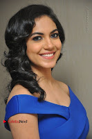 Actress Ritu Varma Pos in Blue Short Dress at Keshava Telugu Movie Audio Launch .COM 0013.jpg