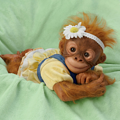 "Amy Ferreira ""Darling Daisy"" Lifelike Poseable Monkey Doll -Price:$69.99 US"