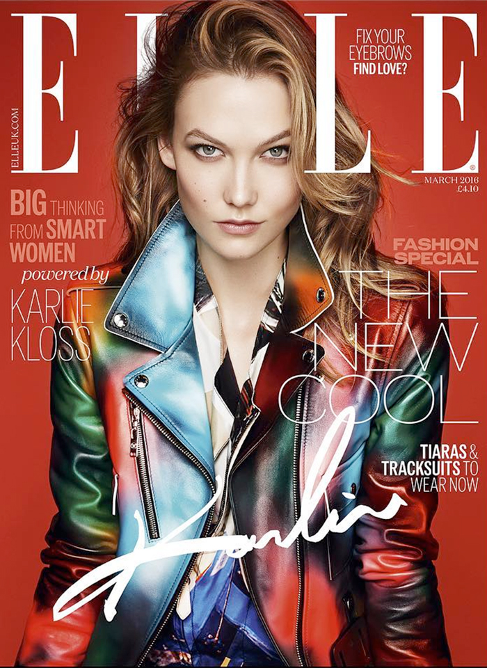 Karlie Kloss is electric for Elle UK March 2016