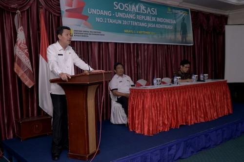 Setda Muba Gelar Sosialisasi UU Nomor 2 Tahun 2017 Tentang Jasa Konstruksi