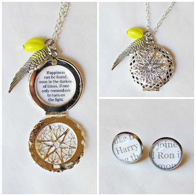 image harry potter jewellery set jewelry handmade quote typography prisoner of azkaban two cheeky monkeys