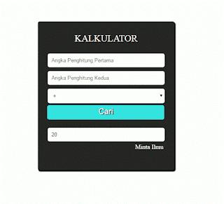 Cara Membuat Kalkulator Sederhana Menggunakan Bahasa Pemrograman PHP minta ilmu