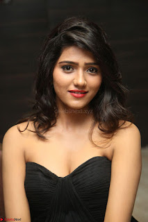 Shalu Chourasiya in spicy Sleeveless Strapless Black Top at O Pilla Nee Valla Movie Audio Launch Feb 2017 017.JPG