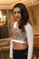 Catherine Tresa in a White Glittering Crop Top Black Leggings  Exclusive 022.JPG