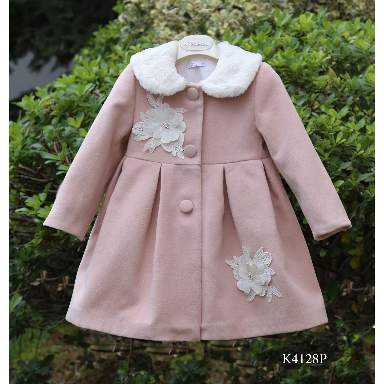 Ροζ βαπτιστικό παλτό για κορίτσια Κ4128p  a5426093c27