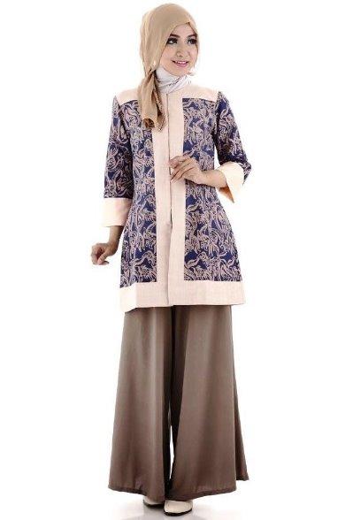 16 Ide Model Baju Batik Muslim Modis Yang Paling Diminati