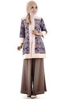 Baju batik muslim modern modis