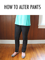 Turn those britches from baggy to classy with this tutorial!