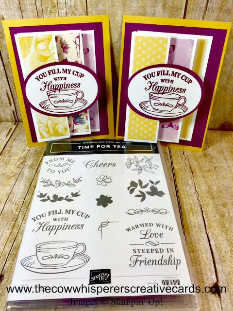 Card, Panel Card, Time for Tea, Fancy Fold