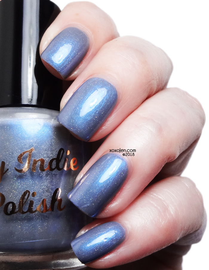 xoxoJen's swatch of My Indie Polish Lip's Blue Eyes