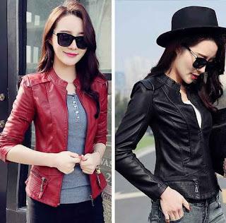 desain jaket kulit yang sedang ngetrend di kalangan wanita taiwan