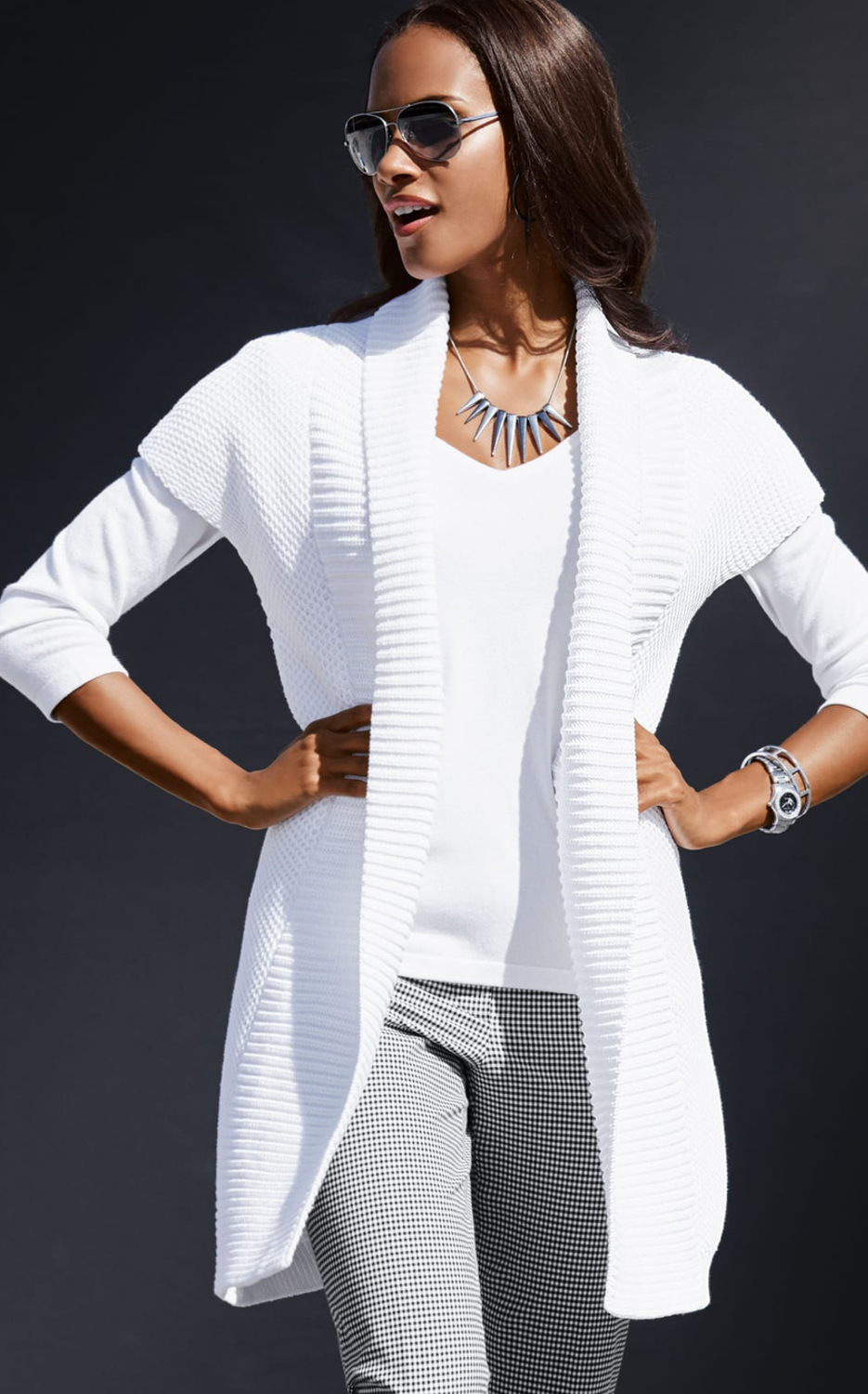 Madeleine White Knit Sweater