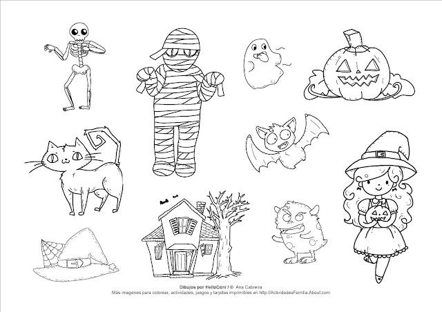 Dibujos Halloween Infantiles Para Imprimir