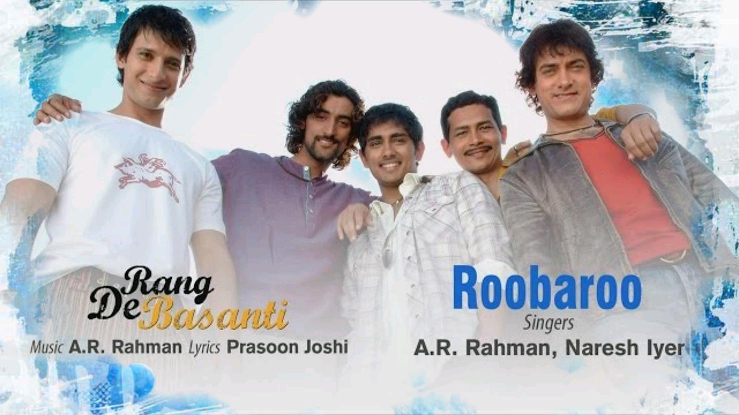 Roobaroo Rang De Basanti Ar Rahman Naresh Iyer Guitar