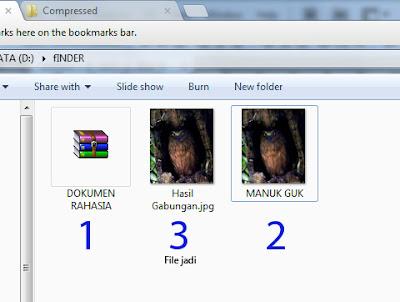 Menyembunyikan file dalam gambar