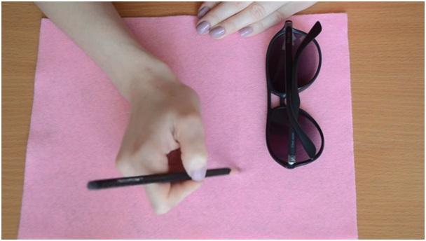 keçe kumaştan gözlük kılıfı yapmak