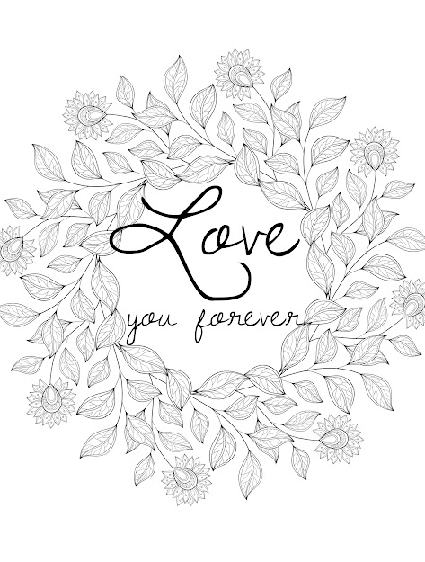 Free Printable Valentines Adult Coloring Pages  Page  Of  Coloring  Pages For Adultslove You Foreverprintable