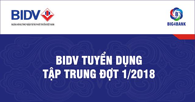 BIDV TUYỂN DỤNG TẬP TRUNG ĐỢT 1/2018