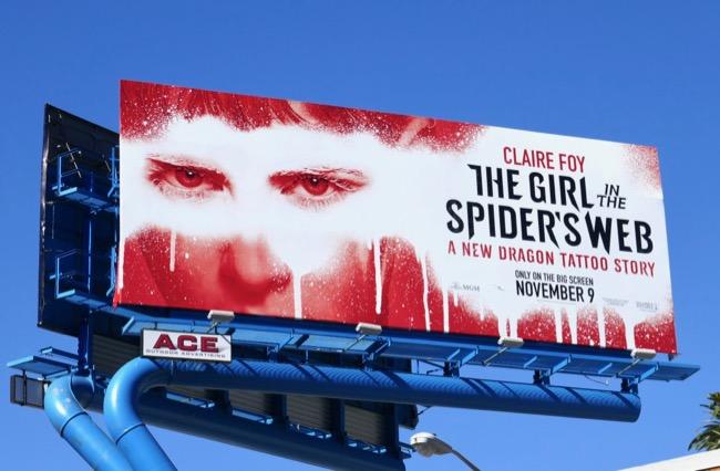 Girl in Spiders Web movie billboard
