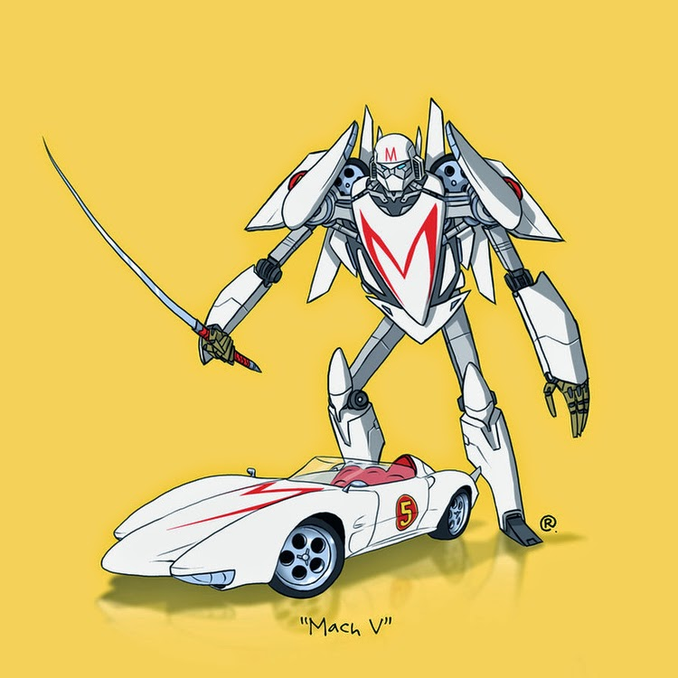 Speed Racer Transformer Car Mach V Rawlsy