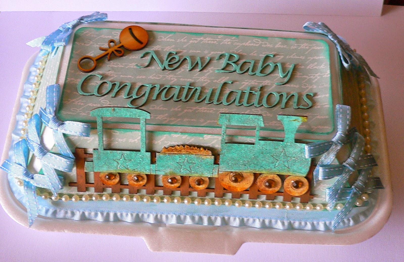 Baby Shower Takeaway Cake Box
