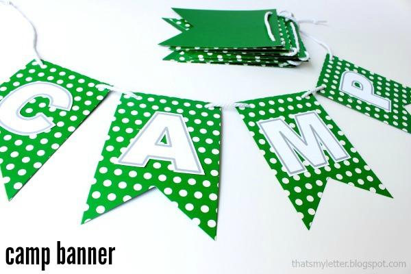 diy camp banner