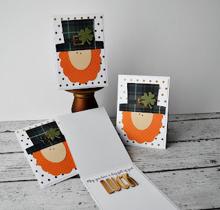 St. Patrick's Day card by Wendy Sue Anderson for Pebbles Inc. featuring a Silhouette cut file by Pebbles In My Pocket