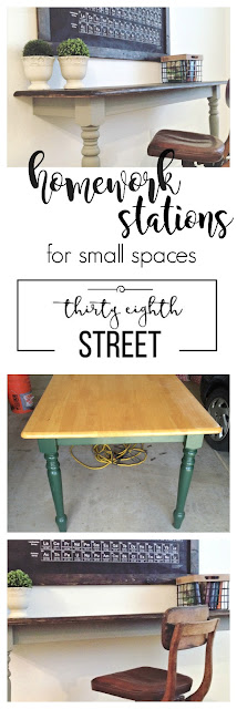 farmhouse, farmhouse decor, farmhouse desk, farmhouse furniture, how to make a desk, how to cut a table in half and make desks, industrial desks, farmhouse desks, farmhouse office space, kids work space ideas, make a desk from a table
