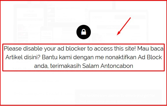 Cara Memasang Anti AdBlock Plus Di Blog
