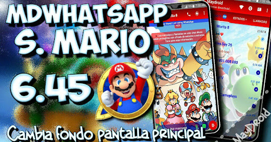 MD Whatsapp v6.45 Latest Update Mario Style Mods Edition Version Creater By MAYDroid Download Now