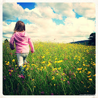 Walking in the meadow