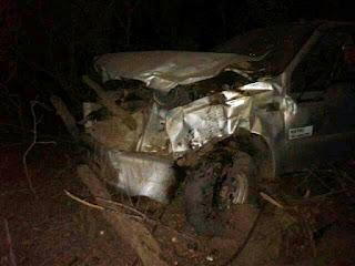 Caminhonete se envolve em acidente próximo a Soledade e deixa três pessoas feridas