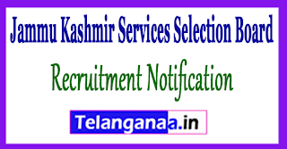 JKSSB Jammu Kashmir Services Selection Board Recruitment Notification 2017