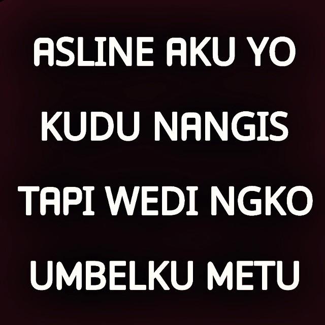 Gambar DP BBM Kata Kata Lucu bahasa Jawa