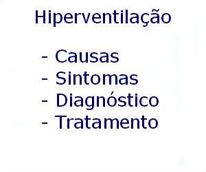 Hiperventilação causas sintomas diagnóstico tratamento prevenção riscos complicações