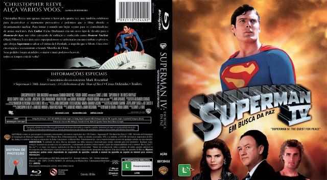 Capa Bluray Superman 4 Em Busca Da Paz