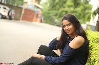Poojita Super Cute Smile in Blue Top black Trousers at Darsakudu press meet ~ Celebrities Galleries 079.JPG
