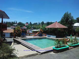 villa di ciater yang ada kolam renang air panas nya