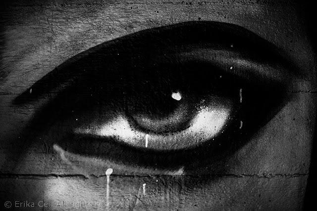 Melara, murales, occhio