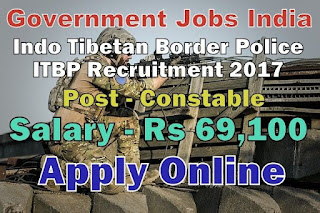 ITBP Recruitment 2017 - Apply online for 62 Head Constable