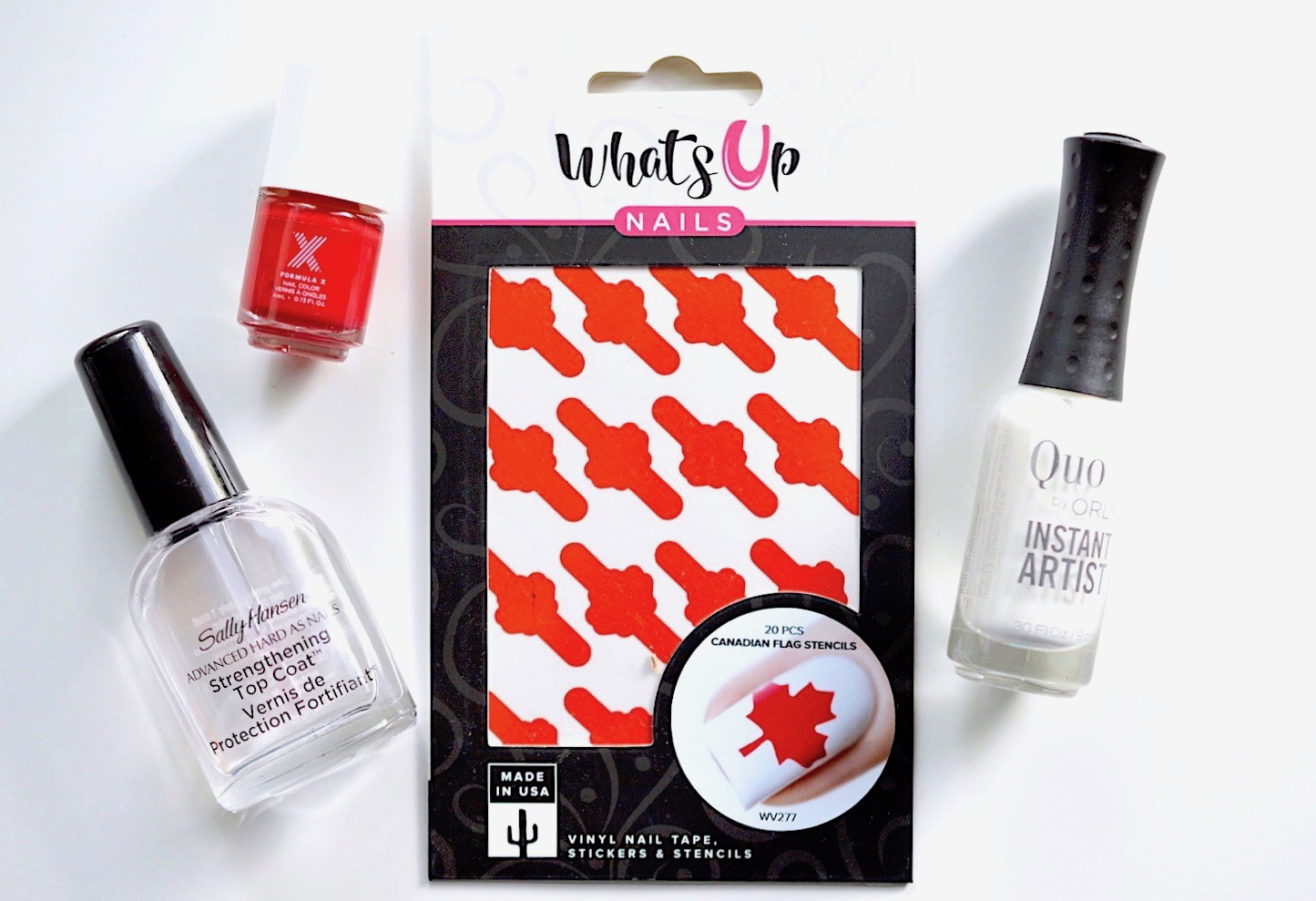 Canadian Flag Nail Vinyls