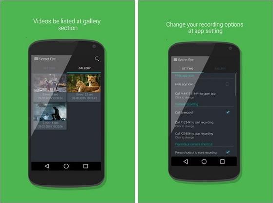 Secret Eye é um aplicativo avançado de gravação de vídeo cujo objetivo é ajudar você a utilizar a câmera do seu smartphone sem que ninguém perceba