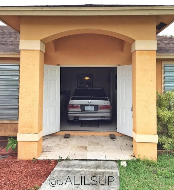 Hombre salva su E30 M3 del huracán estacionándolo en su casa