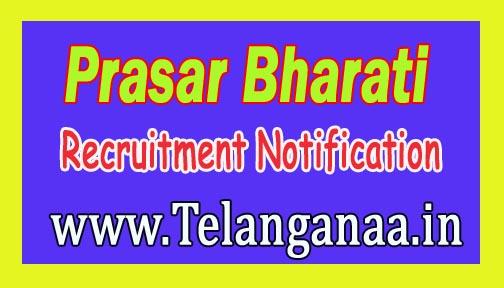 Prasar Bharati Recruitment Notification 2016