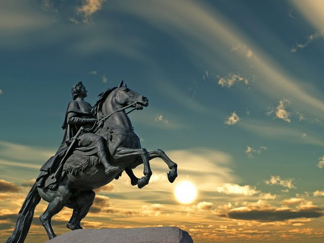 rusadas monumento a pedro i el grande version san petersburgo