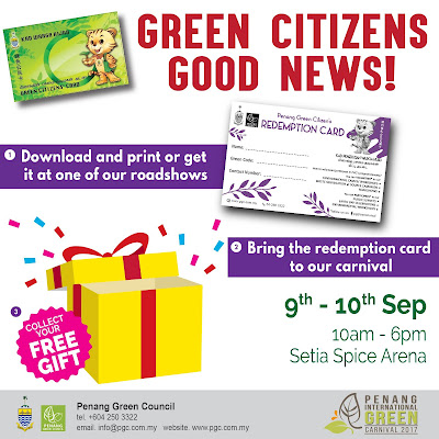 Penang Green Council International Green Carnival Free Redemption Card
