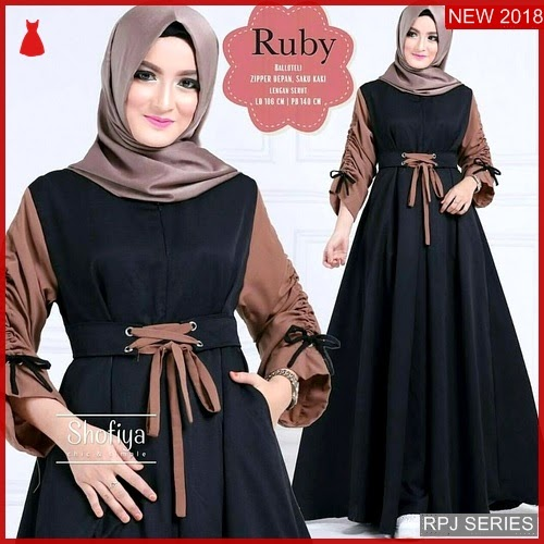 RPJ067D181 Model Dress Ruby Cantik Dress Wanita