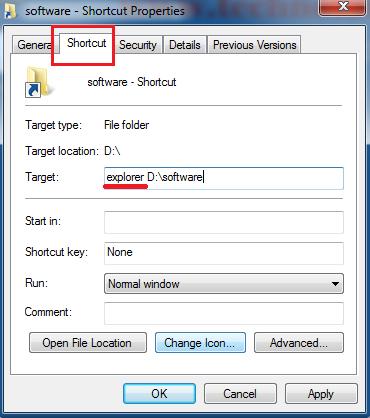 Pin a Folder to Taskbar in Windows 7