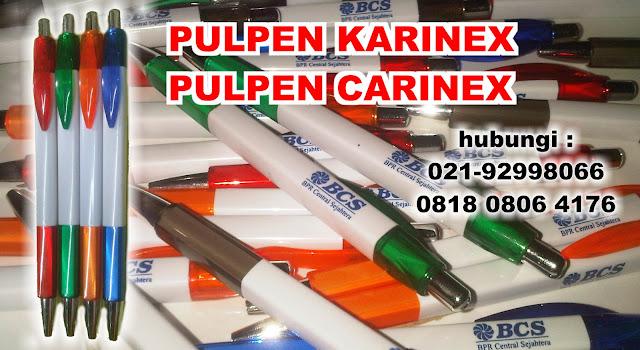Pulpen Sablon Carinex - Menerima Pembuatan Pulpen platik Promosi dan Souvenir