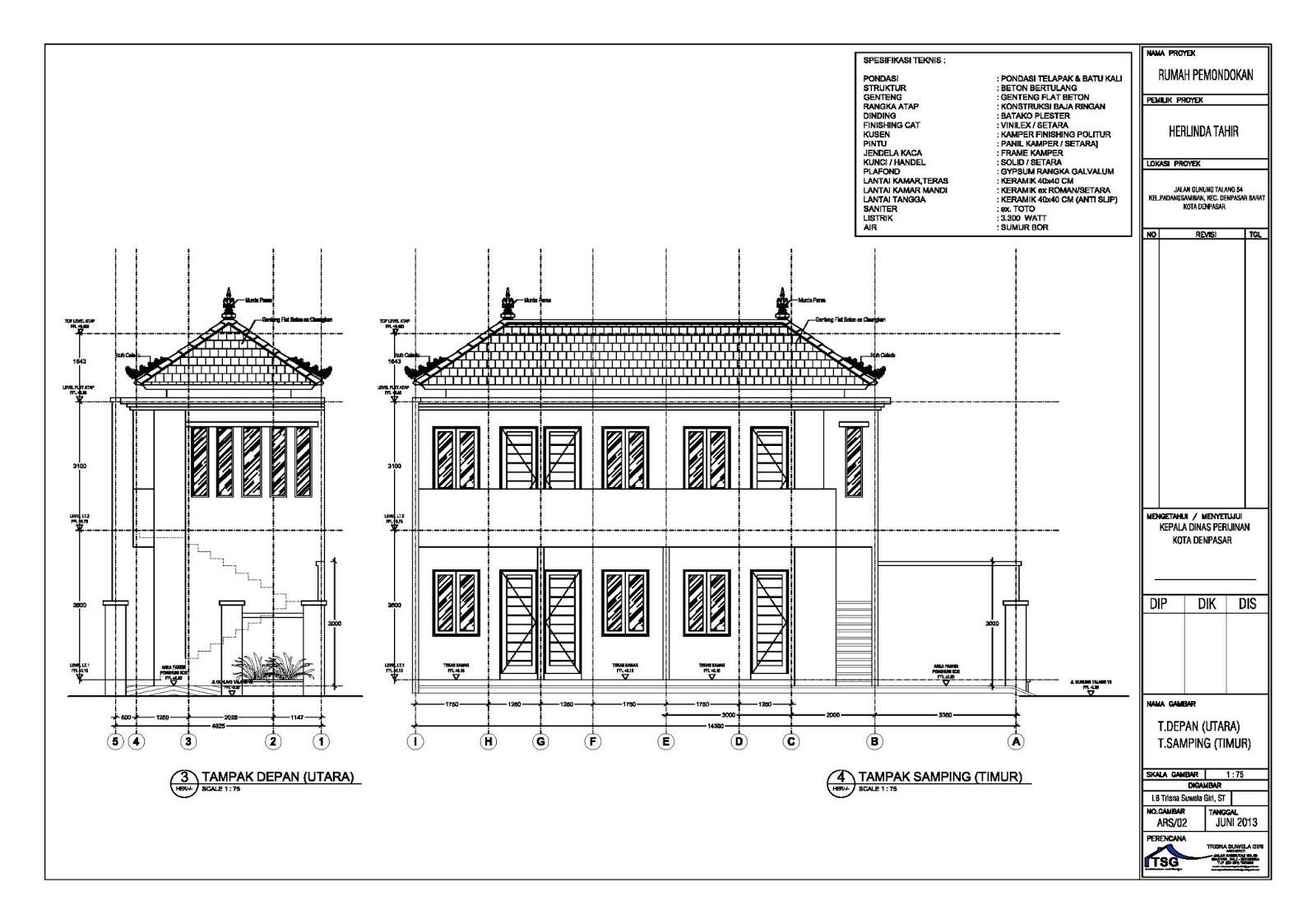Image Result For Denah Rumah Arsitek
